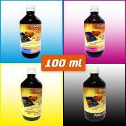 TINTAS PARA RECARGA | Ciano | Magenta | Amarelo | Preto | 100 ml