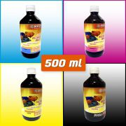 TINTAS PARA RECARGA | Ciano | Magenta | Amarelo | Preto | 500 ml