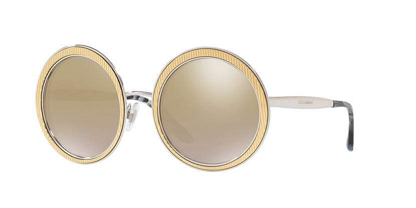 DOLCE&GABBANA DG2179 - Dourado/Espelhado - 1313 6E 54-23 140 2N