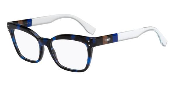 FENDI FF0084 - Azul/ Transparente - E81 52-17 140