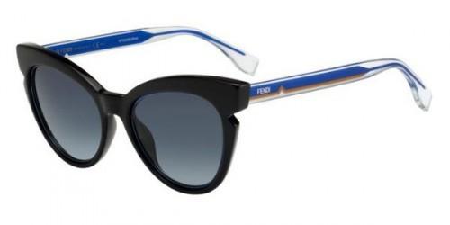 FENDI FF0132/S - Preto/Azul transparente - Z4QHD 51-20 140