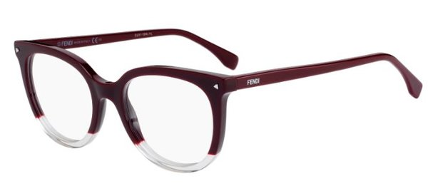 FENDI FF0235 - Vermelho/Transparente - LHF 51-19 140
