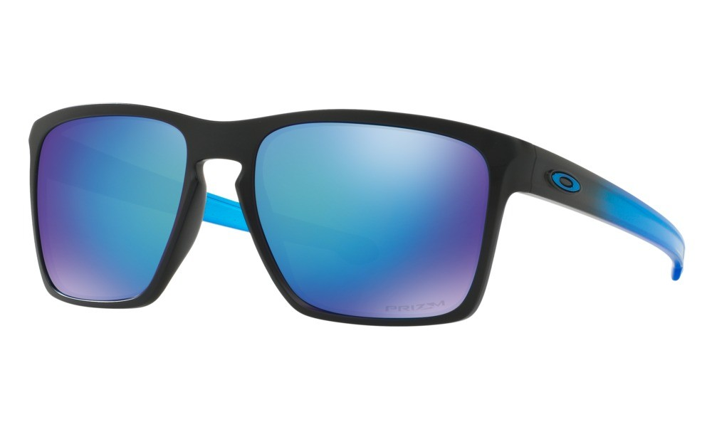 OAKLEY SLIVER PRIZM/POLARIZADO XL OO9341-1357 - Preto/Azul - Azul/Espelhado -  57/18 140