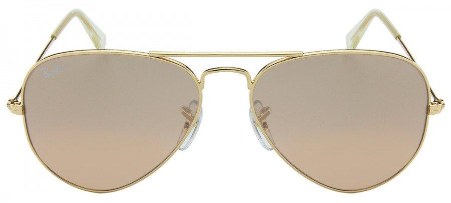 RAY-BAN Aviator 55 - RB3025 - Espelhado/Rosê/Prata - Dourado - 001-3E 58/14 2N