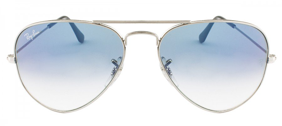 ac8b60de31dc2 RAY-BAN Aviator Large Metal RB3025L - PRATA - AZUL DEGRADÊ - 003 3F ...