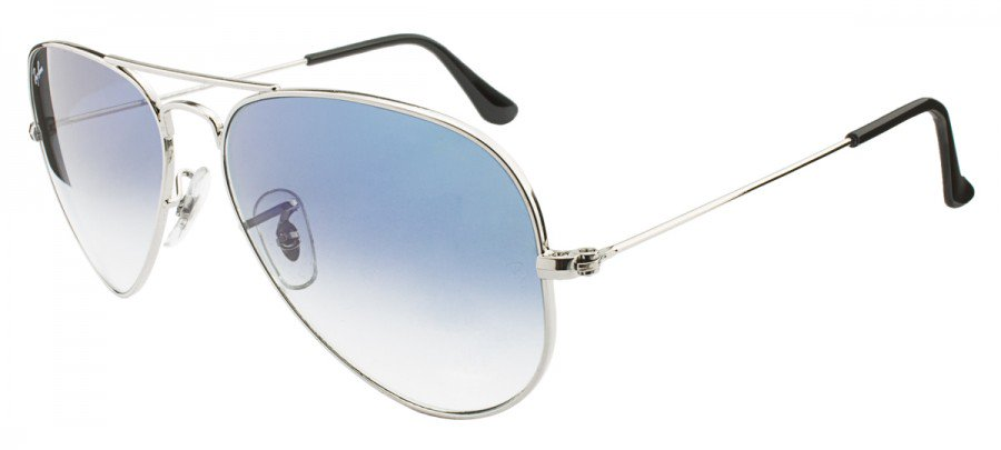 RAY-BAN Aviator Large Metal RB3025L - PRATA - AZUL/DEGRADÊ - 003/3F 58/14 2N