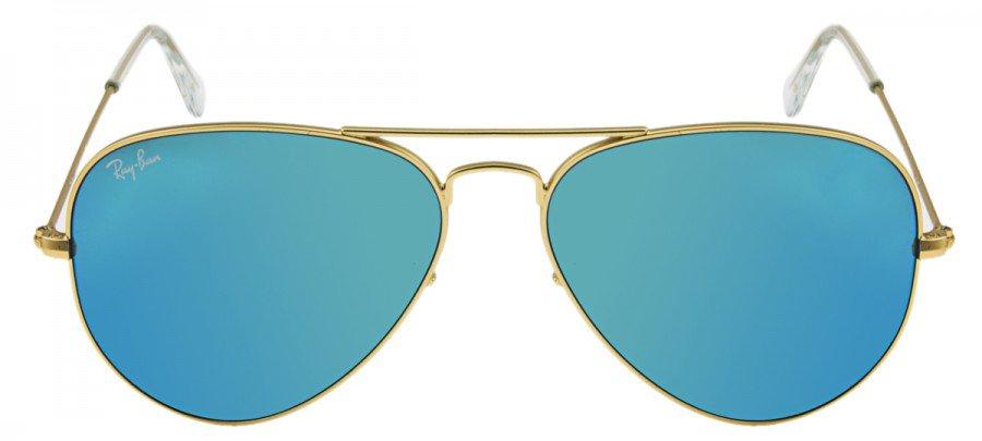 RAY-BAN Aviator  - RB3025 - Espelhado - Dourado/Azul - 112-17 55/14 3N