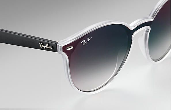 Ray-Ban Blaze - RB4380-N 6355/U0 145 3N Preto / Transparente