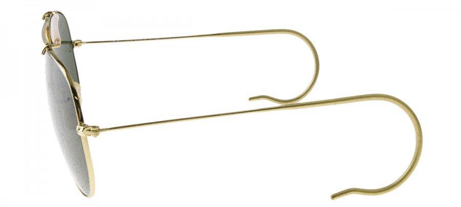 RAY-BAN CAÇADOR Outdoorsman RB3030 - Dourado - VERDE - L0216 58/14 3N
