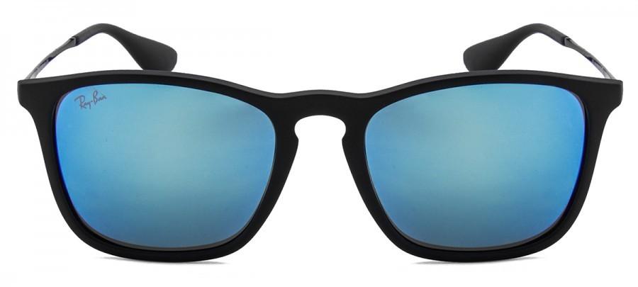 RAY-BAN Chris RB4187L - Azul Espelhado - Preto Fosco - 622 55 54 18 ... 0ecc5fd50b
