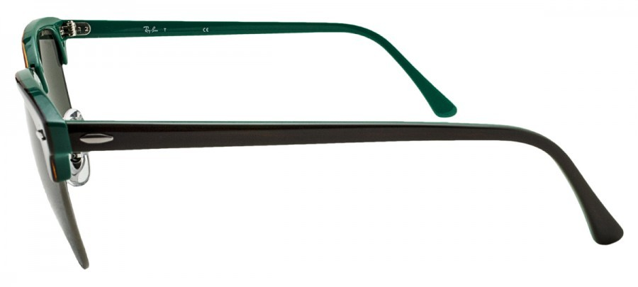 RAY-BAN Clubmaster RB3016 - Marrom/Verde - 1127 51/21 3N