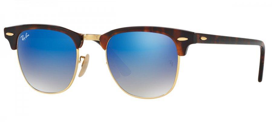 RAY-BAN Clubmaster RB3016 - Tartaruga/Dourado - Azul/Espelhado - 990/7Q 49/21 140 3N