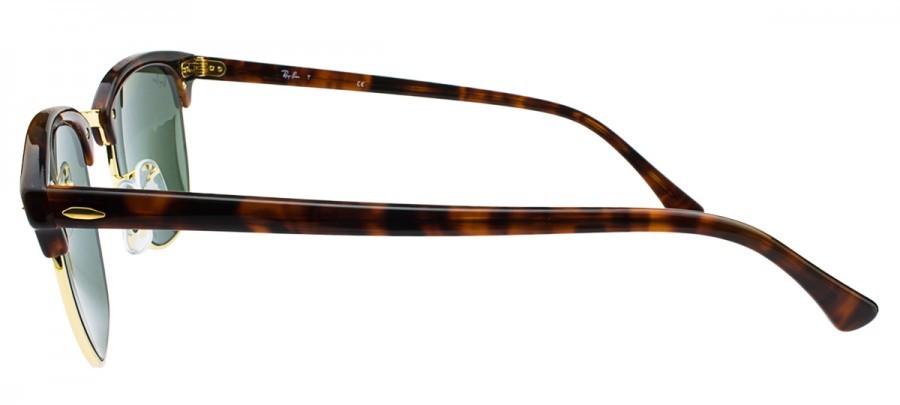 RAY-BAN Clubmaster RB3016 - Tartaruga/Dourado - Verde - W0366 51/21 145 3N