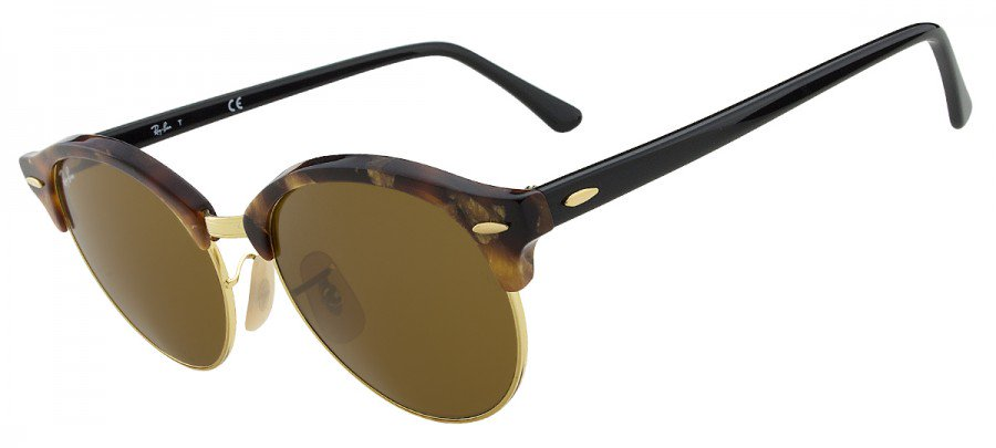 RAY-BAN Clubround RB4246 - TARTARUGA/DOURADO - 1160 51/19 145 3N