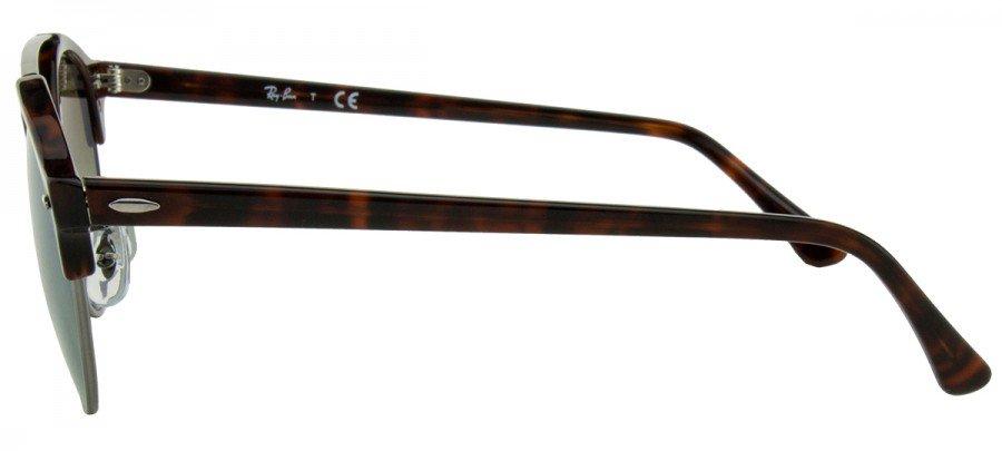 RAY-BAN  Clubround RB4346 - Espelhado - Tartaruga/Prata - Verde Degradê/Espelhado - 6251/9J 51/19 145 3N