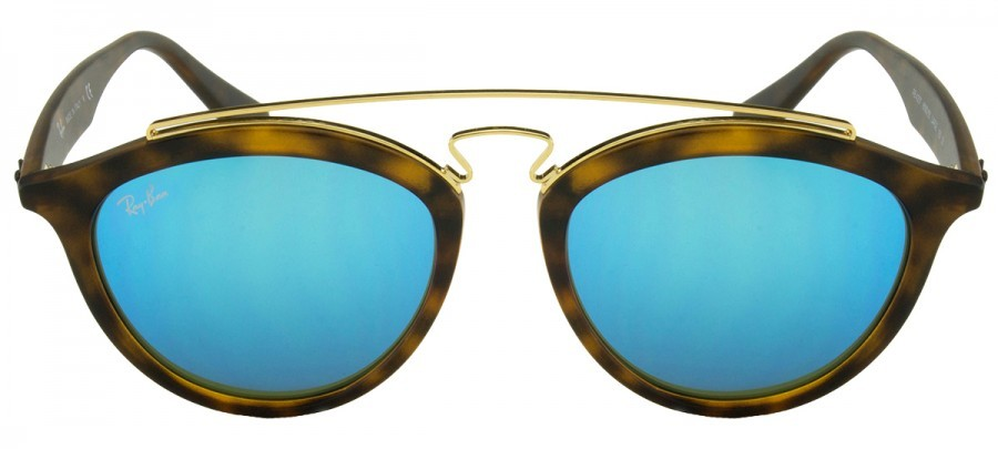 RAY BAN Gatsby  RB4257 - Tartaruga Fosco - Azul/Espelhado - 6092-55 53/19 Large 150 3N