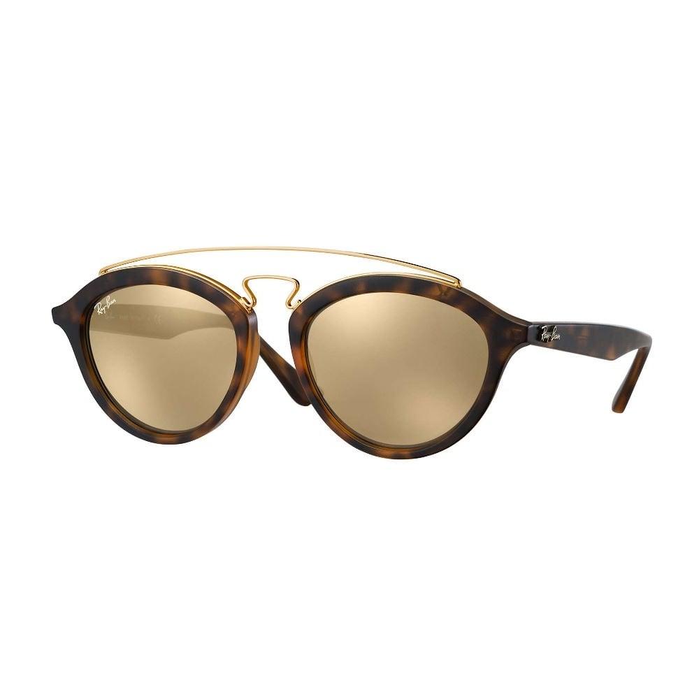 RAY-BAN Gatsby  RB4257 - Tartaruga Fosco - Dourado/Espelhado - 6092/5A 53/19 LARGE  3N