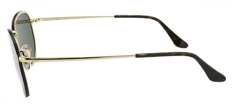 RAY-BAN Hexagonal Blaze RB3579-N - Preto/Dourado - 001/71 58/15 145 3N