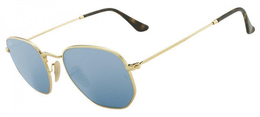 RAY-BAN Hexagonal RB3548-N - Dourado - Azul/Espelhado - 001/9O 51/21 145 3N