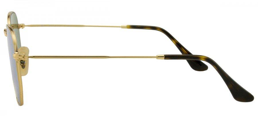 RAY-BAN Hexagonal RB3548-N - Dourado - Prata/Espelhado - 001/30 54/21 145 3N