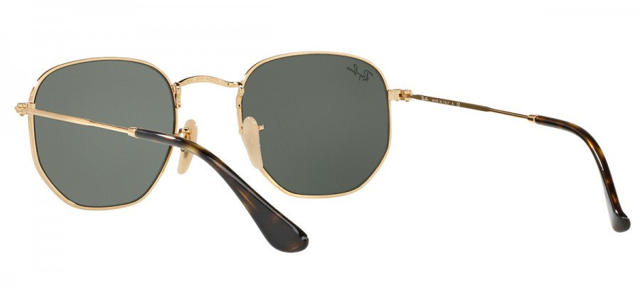 RAY-BAN Hexagonal RB3548-N - Dourado/Verde - 001 54/21 145 3N
