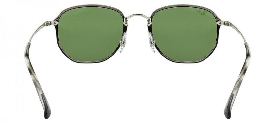 RAY-BAN Hexagonal RB3579N - Espelhado - Prata/Verde - 003/30/58