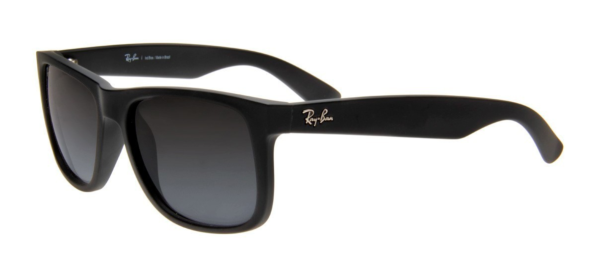 RAY BAN Justin RB4165L Degrade - Preto Fosco- 601-8G/55