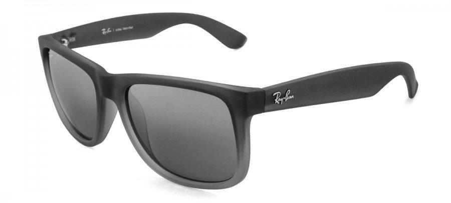 RAY-BAN Justin RB4165L Espelhado - Preto Fosco/Transparente - 852/88 55-16