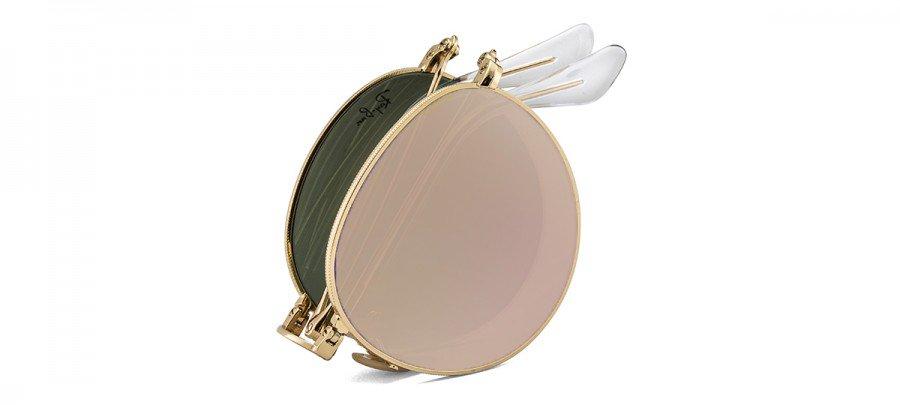 RAY-BAN RB3532 Dobrável/Espelhado - Dourado/Rosê - 001-Z2 53/20 140 2N