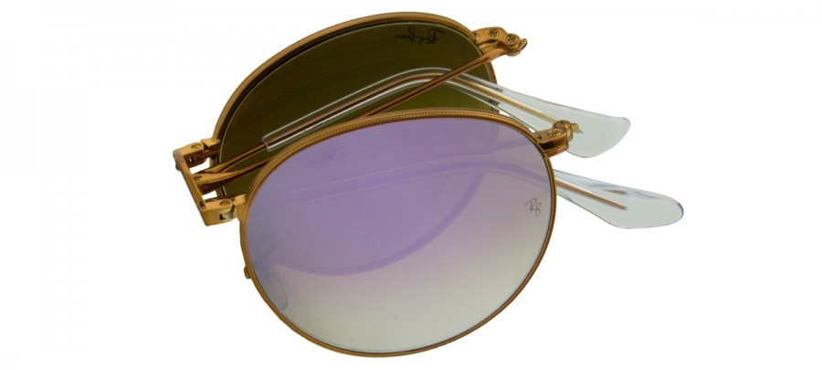 RAY-BAN RB3532 - Espelhado - Dourado/Lilás Dobrável - 198-7X - 53-20 140 3n
