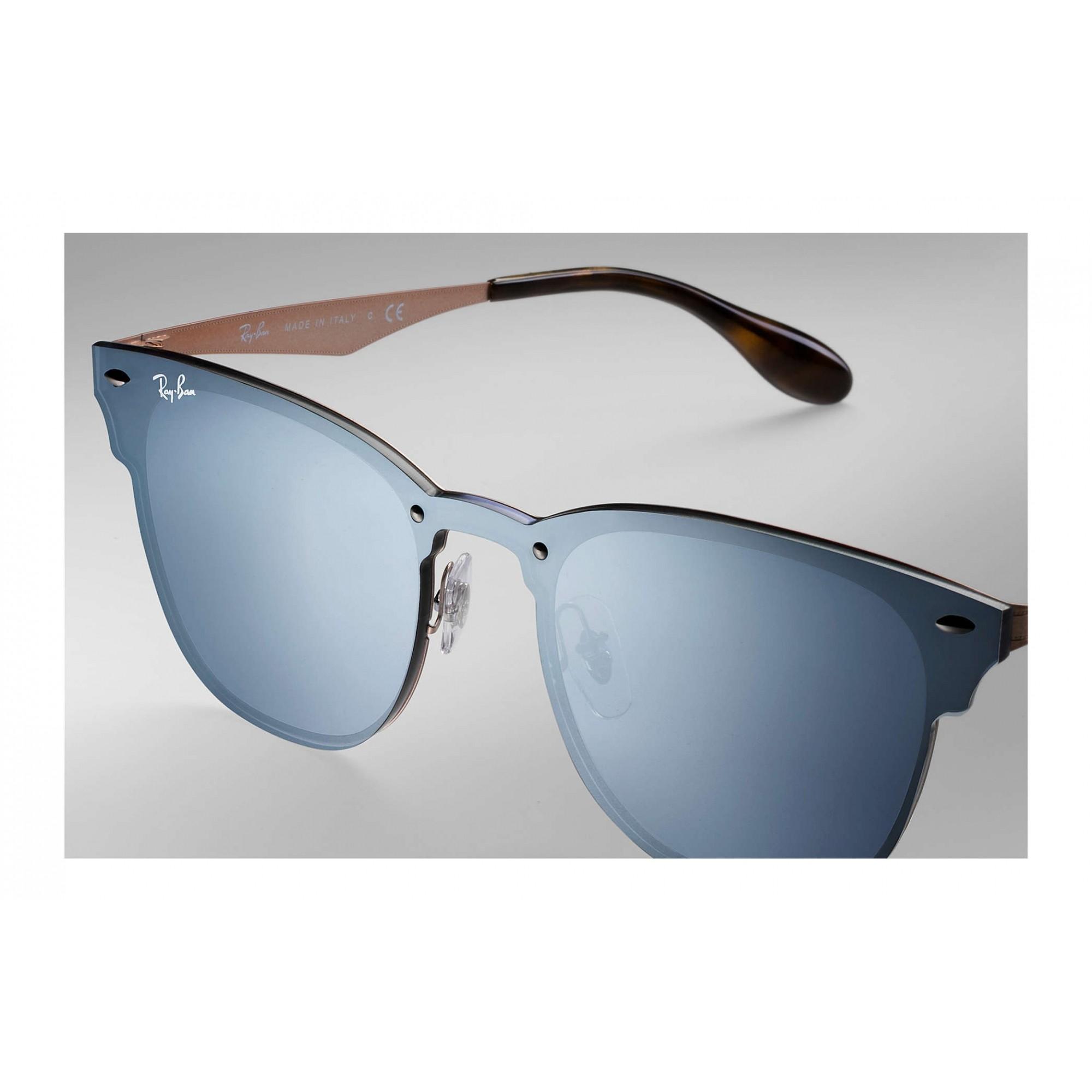 RAY-BAN RB3576-N 9039/1U - Blaze Clubmaster Azul/Espelhado