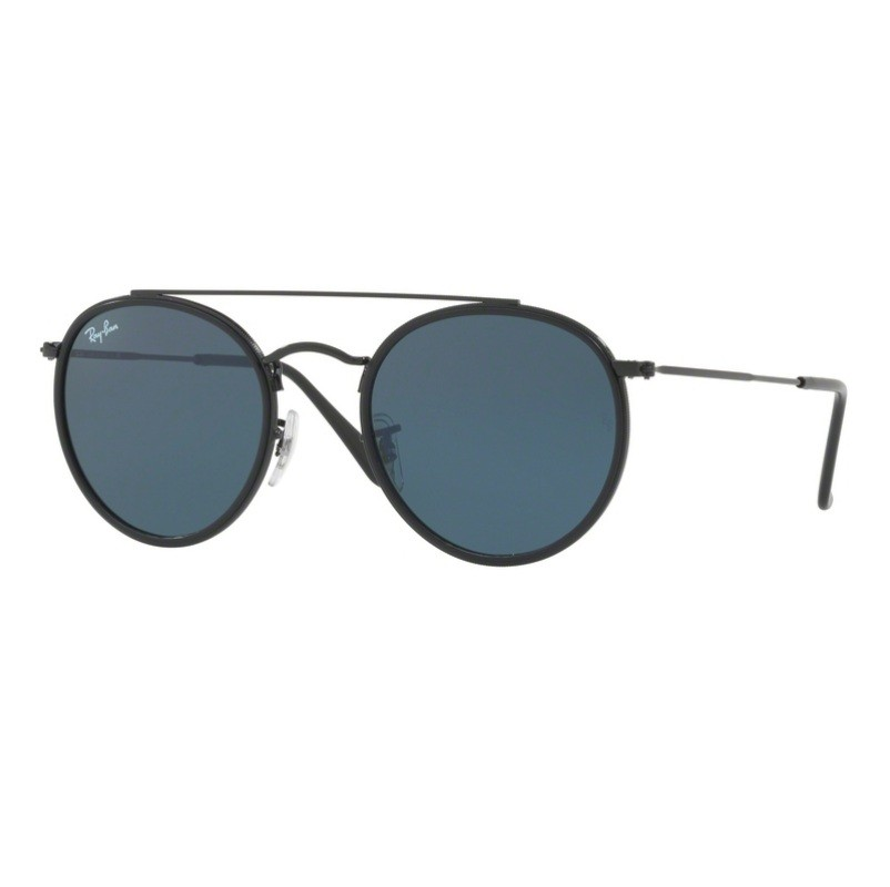 b39af74e0 Ray Ban - Round Double Bridge RB3647-N Preto 002/R5 51-22145 3N Ray-Ban