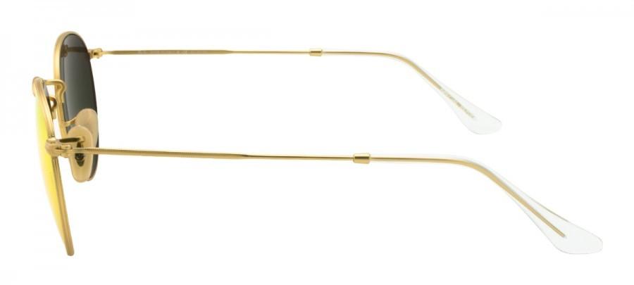 RAY-BAN Round Metal RB3447 Polarizado/Espelhado- Dourado/Laranja-  112/4D 50/21 3P