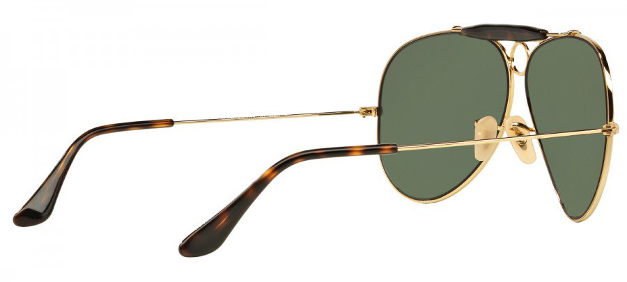 RAY-BAN Shooter RB3138  - Dourado - Verde - 181 62/09 3N
