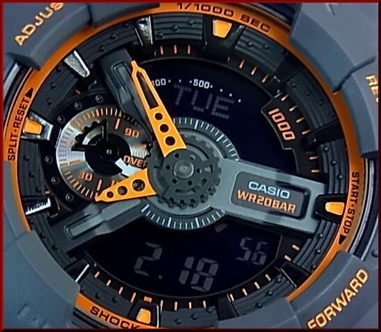RELÓGIO CASIO ANALÓGICO-DIGITAL MASCULINO G-SHOCK - GA-110TS-1A4DR