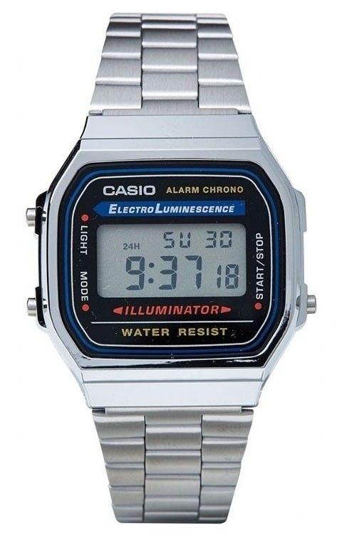 Relógio Casio Vintage A168WA-1WDF Prata