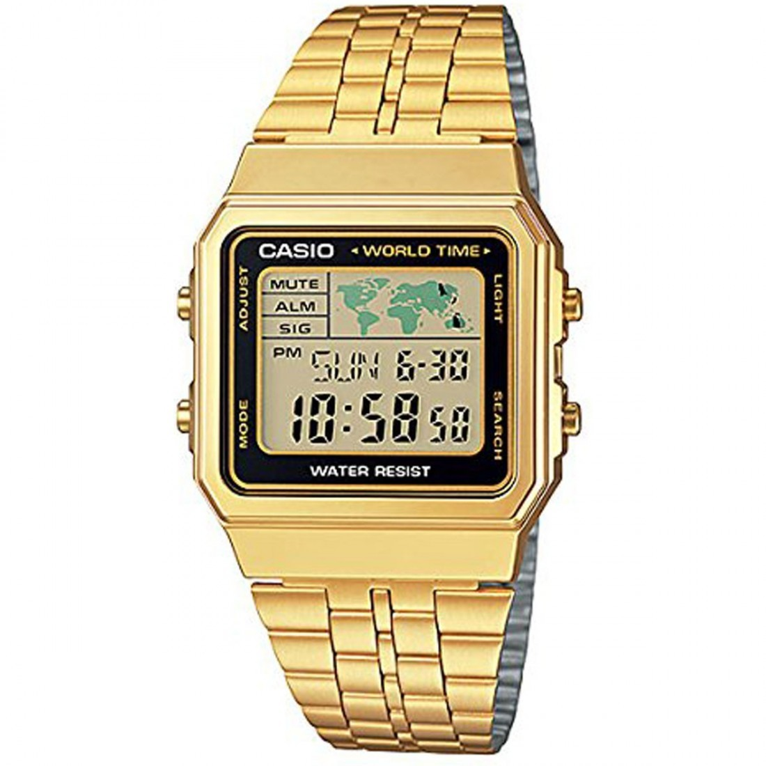 Relógio Casio Vintage World Time A500WGA-1DF