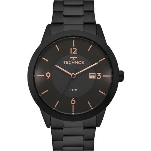 Relógio Technos  Classic Preto em Aço -2115MOH/4P