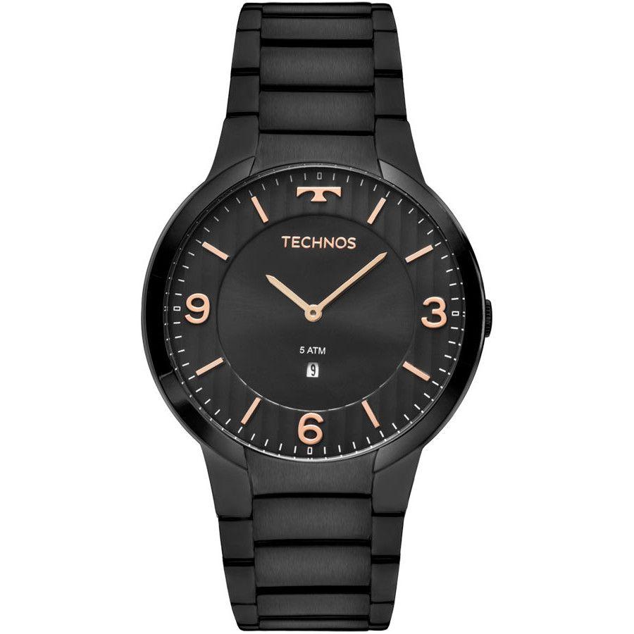 Relógio Technos  Classic Preto em Aço - GL15AM/4P