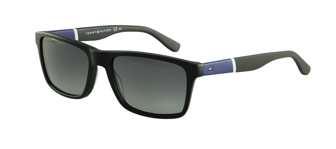 TOMMY HILFIGER  TH1405/S - Preto/Fosco/Azul -  FMVIC 56-18 145