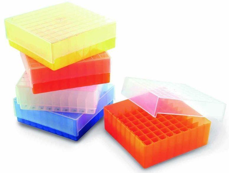 ESTANTE CRIOBOX PARA 81 TUBOS CRIOGÊNICO OU MICROTUBOS DE 1,5-2,0 ML COM TAMPA DE ENCAIXE - TEMPERATURA -80+121°C - K30-081 KASVI