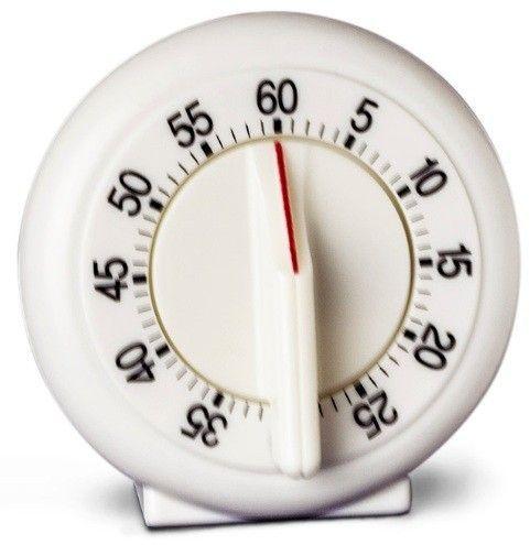 RELÓGIO DESPERTADOR ANALÓGICO AJUSTE DE TEMPO DE 0 A 60 MINUTOS COM ALARME SONORO K30-204 KASVI