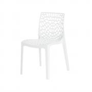 Cadeira De Jantar Gruvyer Design Branco Com Inmetro