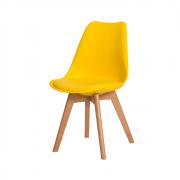 Cadeira De Jantar Saarinen Leda Design Amarela