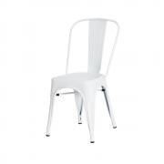 Cadeira De Jantar Tolix Iron Industrial Branca