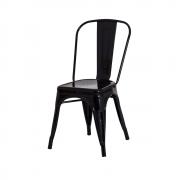 Cadeira De Jantar Tolix Iron Industrial Preta