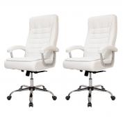 Kit 2 Cadeiras De Escritório Presidente Monique Big Branca