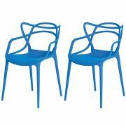 Kit 2 Cadeiras De Jantar Allegra Master Azul Com Inmetro