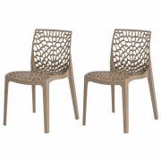 Kit 2 Cadeiras De Jantar Gruvyer Design Fendi Com Inmetro
