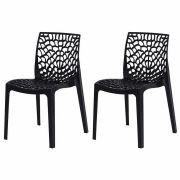 Kit 2 Cadeiras De Jantar Gruvyer Design Preto Com Inmetro